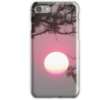 Sunset through the bush fire haze iPhone Case/Skin