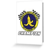 Banana Cup Champion Greeting Card