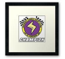 Lightning Cup Champion Framed Print