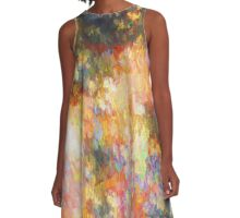 Falling Orange Abstract A-Line Dress