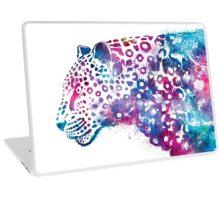 leopard watercolor illustration Laptop Skin