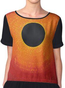 Black Hole Sun original painting Chiffon Top