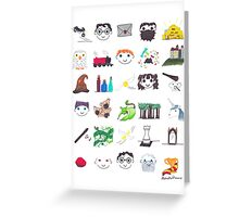 """Books/Movies in Symbols: """"HP1"""" Greeting Card"""