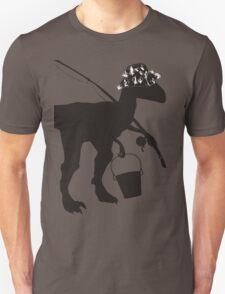 Funny fly fishing dinosaur Unisex T-Shirt