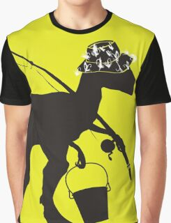 Funny fly fishing dinosaur Graphic T-Shirt