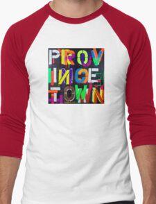 """Provincetown at Night"" Dave Hay • haydave.com Men's Baseball ¾ T-Shirt"