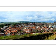 A view from Whitby Abbey Sticker
