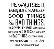 """Good Things & Bad Things"" - 11th Doctor Quote by wessaandjessa"