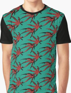Flying Maple Leaves Graphic T-Shirt