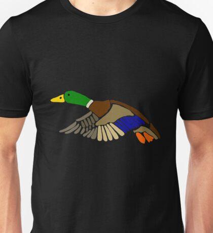 Cool Artistic Mallard Duck in Flight Art Unisex T-Shirt