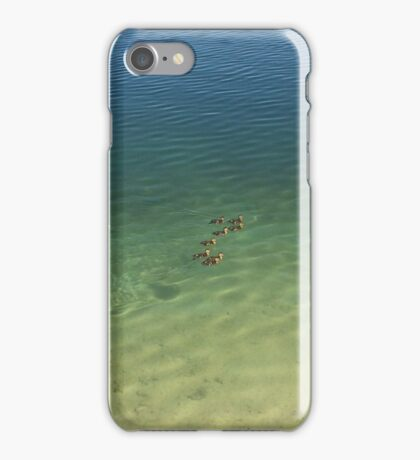 swimming ducks iPhone Case/Skin