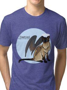 Cat Castiel - Angel kitty of the Lord Tri-blend T-Shirt