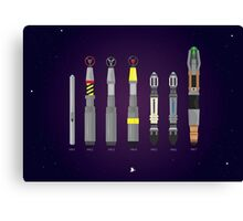 Sonic Screwdriver collection Canvas Print