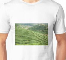 Chinese Green Tea Plantation Unisex T-Shirt