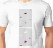 Four Aces (Asexual Pride) Unisex T-Shirt