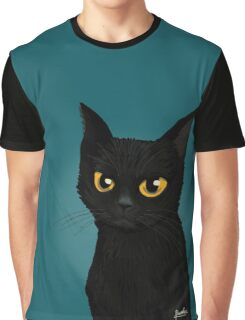 Cat in the blue Graphic T-Shirt