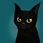 Cat in the blue by BATKEI
