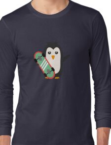 Skateboard Penguin   Long Sleeve T-Shirt