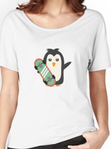 Skateboard Penguin   Women's Relaxed Fit T-Shirt
