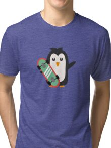 Skateboard Penguin   Tri-blend T-Shirt