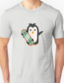 Skateboard Penguin   Unisex T-Shirt