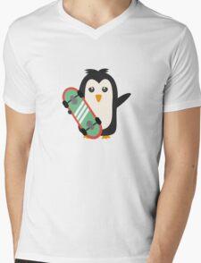 Skateboard Penguin   Mens V-Neck T-Shirt