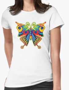 Pretty Colourful Butterfly Womens Fitted T-Shirt