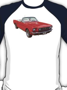 1965 Red Ford Mustang Convertible T-Shirt