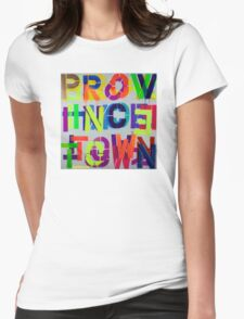 """""""Provincetown • Blue Sea"""", Dave Hay,  haydave.com Womens Fitted T-Shirt"""