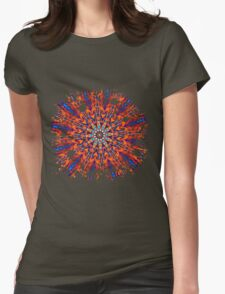 Psychedelic Splatter Womens Fitted T-Shirt