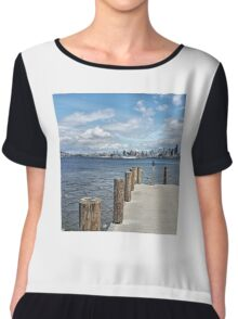 View of Seattle Skyline Chiffon Top