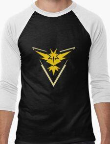 Team Instinct Pokemon Go Men's Baseball ¾ T-Shirt