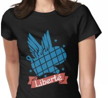 Patriotic flying oven mitt liberte liberty Womens Fitted T-Shirt
