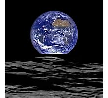 Earthrise, Lunar Earth rise on the Moon Photographic Print