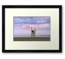 Couple at Sunset Beach Framed Print