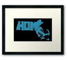 Massachusetts HOME state design Framed Print