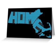 Massachusetts HOME state design Greeting Card