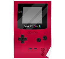 Gameboy Color 2.0 - Red Poster