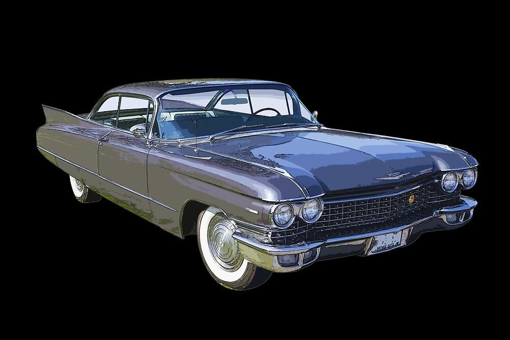1960 Cadillac Luxury Car by KWJphotoart
