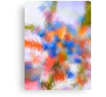 Abstract Blue and Orange Flower/Nature Edit Canvas Print