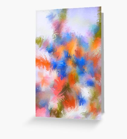 Abstract Blue and Orange Flower/Nature Edit Greeting Card