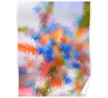 Abstract Blue and Orange Flower/Nature Edit Poster