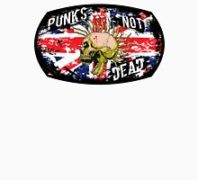 Gothic Punks Not Dead With Skull And Union Jack  Unisex T-Shirt