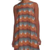 Canyon Wave original painting A-Line Dress