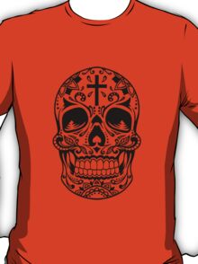 Sugar Skull, Day Of the Dead, Halloween Black SugarSkull T-Shirt
