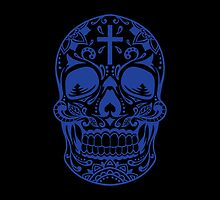 Sugar Skull, Day Of the Dead, Halloween Blue SugarSkull by carolinaswagger
