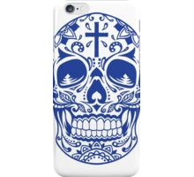 Sugar Skull, Day Of the Dead, Halloween Blue SugarSkull iPhone Case/Skin
