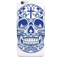 Sugar Skull, Day Of the Dead, Halloween Blue SugarSkull iPhone Case/Skin