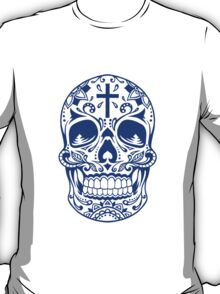 Sugar Skull, Day Of the Dead, Halloween Blue SugarSkull T-Shirt
