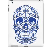 Sugar Skull, Day Of the Dead, Halloween Blue SugarSkull iPad Case/Skin